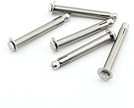 M6x80mm Hex Expansion Bolt Yasorn Sleeve Expansion Screw, 304 Stainless Steel External Furniture Bolts, Expanding Shield Anchor Fastener Raw Style 5 pcs