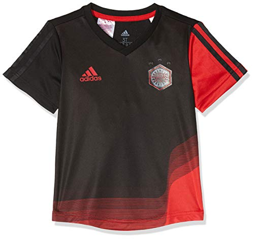 adidas Jungen Disney Star Wars 2 Kurzarm T-Shirt, Black/Vivid Red, 104