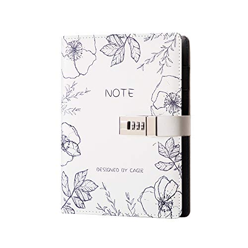 Lock Journal A5 Binder Diary Faux Leather Refillable Journal Loose...