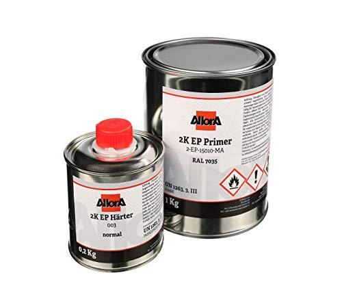 AllorA 2K EP Primer - Epoxid Grundierung inkl. Härter/Lichtgrau RAL 7035 (ideale Grundierung für UPOL Raptor)