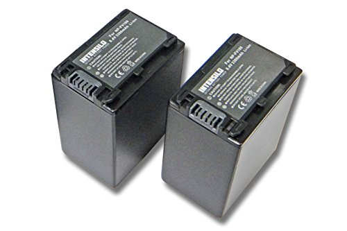 INTENSILO 2X Li-Ion Akku 3300mAh (8.4V) für Videokamera Camcorder Sony HDR-CX450, HDR-CX625, HDR-PJ620 wie NP-FV100, NP-FV60, NP-FV30.