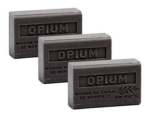 Maison du Savon - 3er-Set Seifen mit Sheabutter, Opium, 3x125 g
