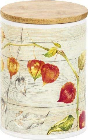 Autumn Pysalis Chinesische Laternen-Design, rund, Kaffeedose, Teedose, 16 cm, Orange/Rot/Gold
