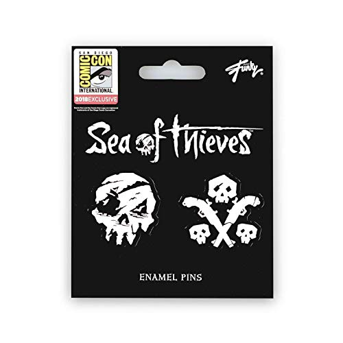 Desconocido Sea of Thieves Skull & Gun Pins | Exclusive Just Funky Collector Pins | Set of 2