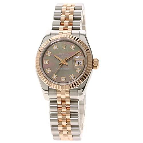[ロレックス]デイトジャスト 10P ダイヤモンド 179171NG 腕時計 ステンレススチール/SSxK18PG レディース (中古)