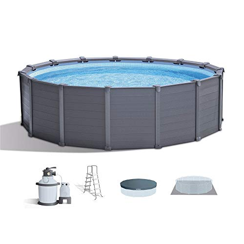 Intex 15.6ft x 49in Above Ground Swimming Pool Set w/Sand Filter Pump & Ladder