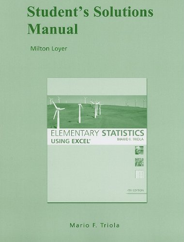Student Solutions Manual for Elementary Statistics Using...
