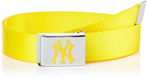 MSTRDS MLB Premium Woven Belt Single Ceinture, Jaune Fluo (3379), Taille unique Homme