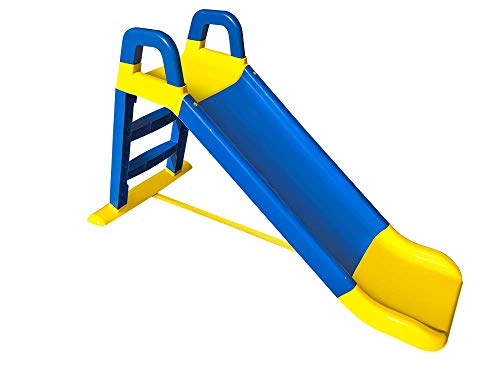 miwido Rutsche , eine kleine Rutsche , Spaß für Kinder, Sehr hübsch Kinderrutsche, Stabil Rutsche (Blau Gelb)