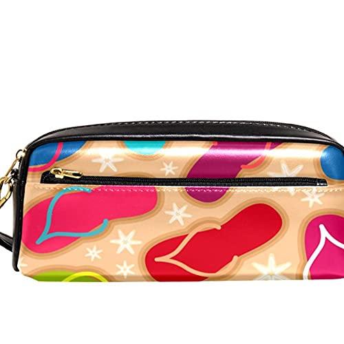 Estuche para lápices Marcador Bolígrafo Bolsa Organizador de escritorio elegantes chanclas coloridas Bolsa de almacenamiento