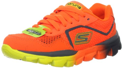 Skechers Kids 95672L Go Run Ride - Supreme Athletic Running Shoe (Little Kid),Orange/Charcoal,11.5 M US Little Kid