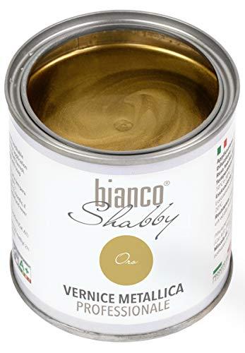 VERNICE METALLICA Oro - bianco Shabby Vernice metallica professionale 250 ml