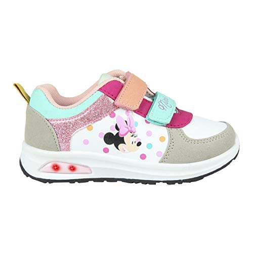 CERDÁ LIFE'S LITTLE MOMENTS Cerdá-Zapatilla con Luces Minnie Mouse de Color Arcoíris, Niñas, 28 EU