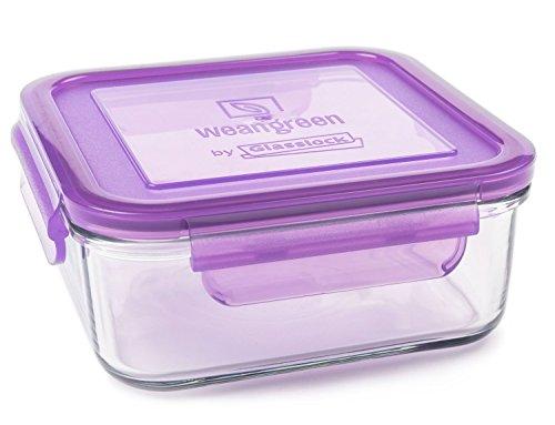 Conjunto de contenedores de alimentos Multicolor Wean Green vidrio 6 uds.
