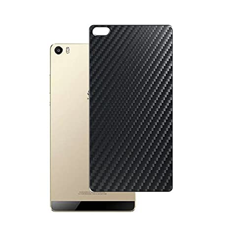 Vaxson 2 Unidades Protector de pantalla Posterior, compatible con Huawei P8 Max, Película Protectora Espalda Skin Cover - Fibra de Carbono Negro