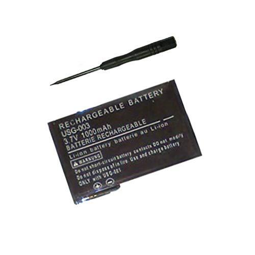 Bateria + Destornillador de desmontaje para Nintendo DS Lite/NDS Lite 1000mAh 3.7V Li-Ion
