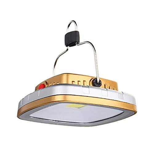 Luz de la tienda recargable de luz de camping Tienda de campaña llevado lámpara que acampa linterna USB de la batería recargable Carpa colgante ligera del gancho de la lámpara al aire libre de la COB