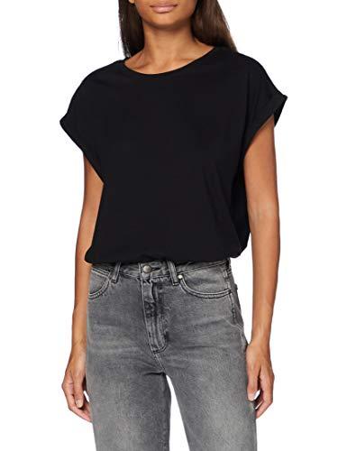 Urban Classics T- Shirt Ladies Extended Shoulder Tee, Black/White/Black, S (Lot de 3) Femme
