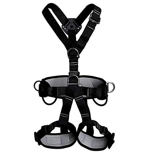 Arnés de Seguridad de Escalada para Hombre Mujer Alpinismo Cuerda Equipo Escalada Ajustable Al Aire Libre Rappel Cinturón Seguridad de Rescate cinturón de caída de Velocidad