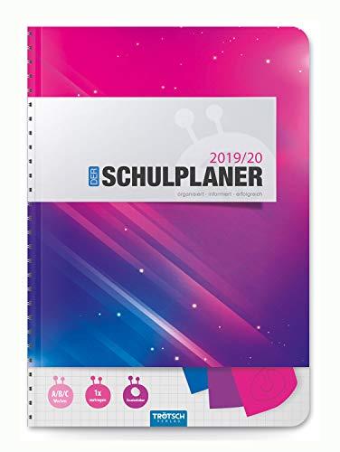 Trötsch Verlag 201932 - Schulplaner 2019/2020, pink, DIN A5, mit Stickern
