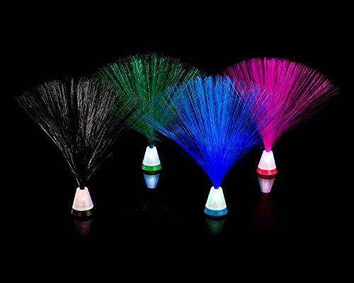 "Fiber Optic 4 Pack Multicolored Set 9"" Light Base by Playlearn"