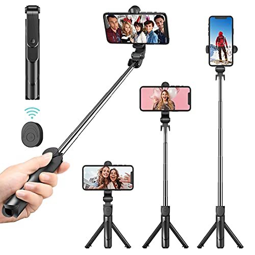 Selfie Stick Bluetooth, Doosl Selfie Stick Tripod - Extendable Tripod Stick with...