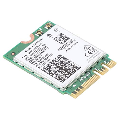 PUSOKEI Tarjeta de Red inalámbrica de Banda Dual, Adaptador de Red 802.11ax con tecnología WiFi 6 Módulo Bluetooth 5.0 Integrado, Adaptador para Windows 10 (64 bits) / Linux