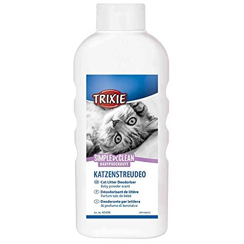 Trixie 42406 Simple'n'Clean Katzenstreudeo, Babypuderduft, 750 g