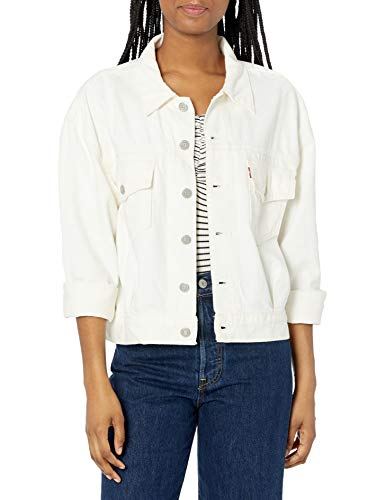 Levis Womens Oversized Utility Trucker Jackets, Want Not, Small