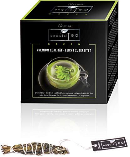 Creano exquisitea - Tè verde - foglie di tè intere preparate in modo semplice come una bustina di tè - NOVITÀ