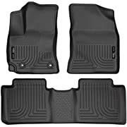 Husky Liners - 99521 Fits 2014-19 Toyota Corolla with Standard Transmission Weatherbeater Front & 2nd Seat Floor Mats Black