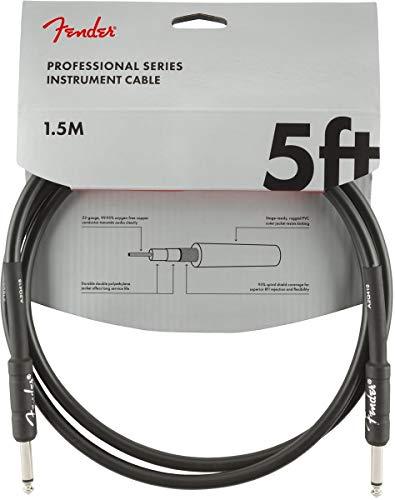 Fender 099-0820-026 Cable de instrumentos de la serie profesional - 5 pies - STR/STR - negro