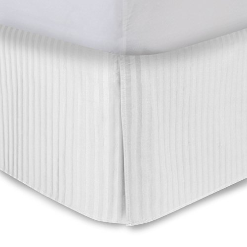White Bed Skirt Twin XL Bed Skirt 14 Inch Drop,...