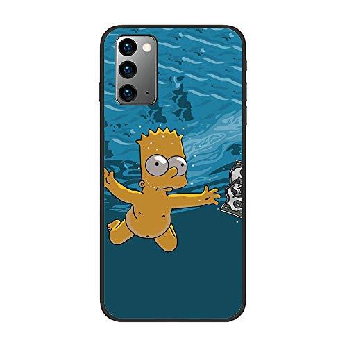 Black Matte Slim Liquid Flexible Fundas Soft Case Back Cover for Samsung Galaxy Note 20-Funny Homer-Simpson 9