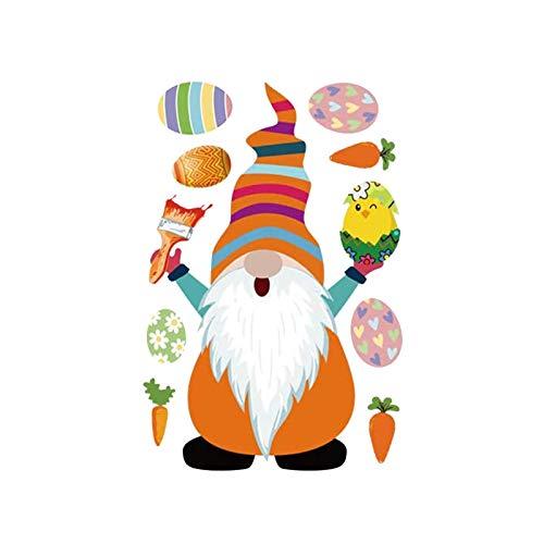 Pegatinas de transferencia de calor para decoración de Pascua, enano, decoración para interiores y exteriores, decoración para puertas, fiestas, ventanas, decoración para el hogar, el mejor regalo