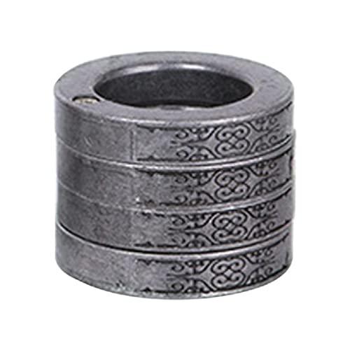 Lisanl Multifunktionale Outdoor Klettern Notfallzubehör Retro Magic Ring Personalisierter 4-Finger-Ring 4-Finger-Ring