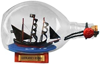 Hampton Nautical Blackbeard's Queen Anne's Revenge Pirate Ship in a Bottle, 7