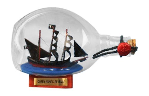 Hampton Nautical Blackbeard's Queen Anne's Revenge Pirate Ship in a Bottle, 7'
