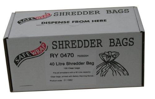 Safewrap Abfalltüte (für Aktenvernichter, 40 Liter) 100 Stück
