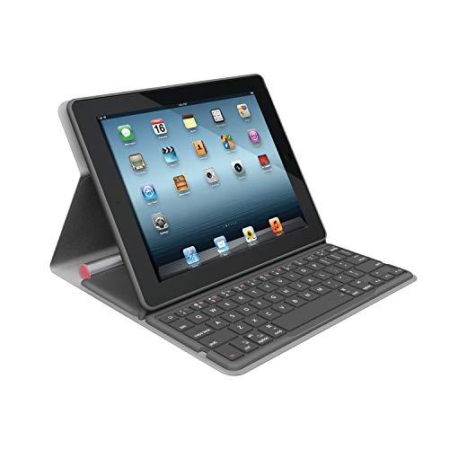 Logitech Bluetooth Solar Tastatur Foliocover für Apple iPad 2/3/4 coral pink (deutsches Tastaturlayout, QWERTZ)