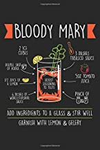 Bloody Mary: Recipe Cocktail Bloody Mary Party Drink Dot Grid Notebook 6x9 Inches - 120 dotted pages for notes, drawings, formulas | Organizer writing book planner diary