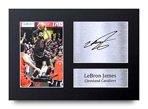 HWC Trading Lebron James A4 Ungerahmt Signiert Gedruckt Autogramme Bild Druck-Fotoanzeige Geschenk Für Cleveland Cavaliers Basketball-Fans