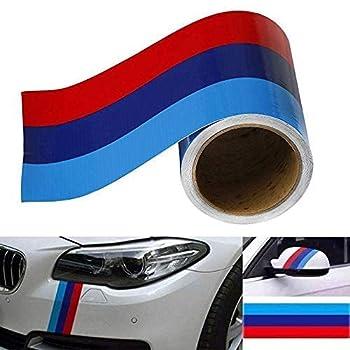 JUST N1 M-Colored Stripe Sticker car Vinyl Decal for M3 M4 M5 M6 3 5 6 7 Series,Auto Sticker 116 5.9in