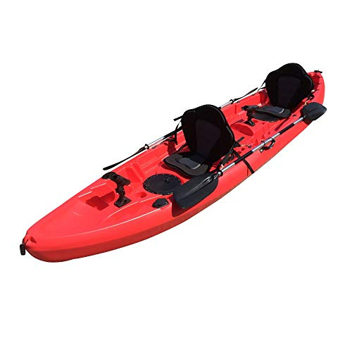Cambridge Kayaks ES, Sun Fish TÁNDEM SÓLO 2 + 1, Rojo, RIGIDO