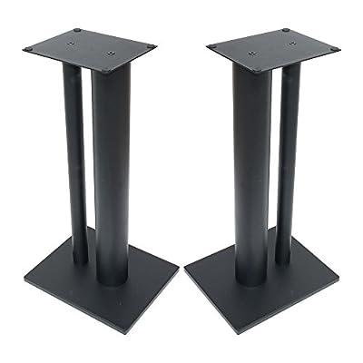 Fisual Dynami Duo Speaker Stands 600mm (Pair) (600mm, Matt Black) from Fisual
