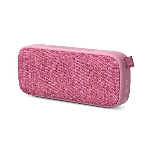 Energy Sistem Fabric Box 3+ Altavoz Bluetooth Trend Grape (TWS, Bluetooth v5.0, 6 W, USB&microSD MP3 Player, FM Radio) Rosa