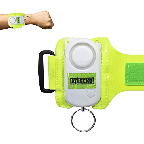Atlecko Personal Safety Alarm 140DB Runners, Men, Women, Kids, Elderly - Loud Siren Sound +300M Emergency, Self-Defence, Security, Panic, Attack for Running, Walking, Cycling - High Visibility