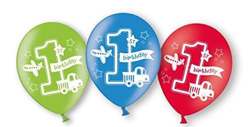 Preisvergleich Produktbild 6 Ballons * BIRTHDAY BOY * zur Dekoration für den ersten Kindergeburtstag / / Luftballons Kinder Geburtstag Junge