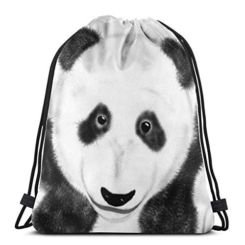Not Applicable Tunnelzug Gymsack,Gym Sack,Rucksack Für Sport,Sportbeutel Kordelzug,Pandas Bears Athletic Pull String Bag Für Reisende Schule Shopping Yoga