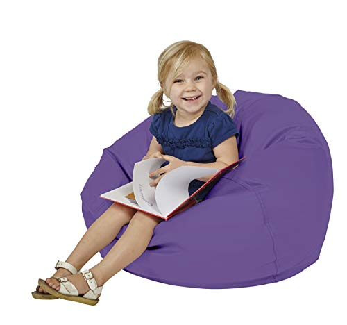 FDP SoftScape Classic 26' Junior Bean Bag Chair, Furniture for Kids, Perfect for Reading, Playing Video Games or Relaxing, Alternative Seating for Classrooms, Daycares, Libraries or Home - Purple